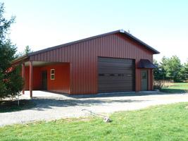 30 X 40 Pole Barn W 10 A Recessed Porch